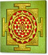 Sri Gold Yantra Canvas Print