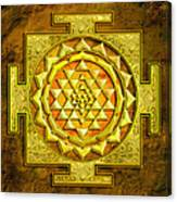 Sri Yantra Gold Stone Canvas Print