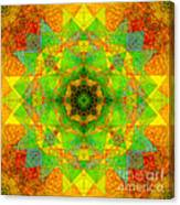 Sri Yantra Variation Mandala Canvas Print