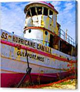 Ss Hurricane Camille Tugboat Canvas Print