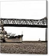 Uss Massachusetts 0001 Canvas Print
