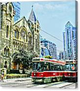 St Andrew Church In Toronto Canvas Print