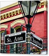 St. Ann And Chartres Nola  Canvas Print
