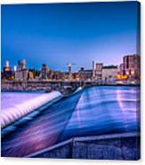 St. Anthony Falls In Minneapolis Canvas Print
