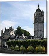 St. Antoine Tower And The Chateau De Loches Canvas Print