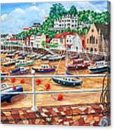 St Aubin's Harbour - Jersey Canvas Print