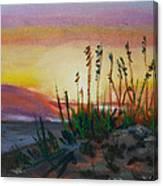 Beach At Sunrise Canvas Print