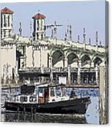 St Augustine Bridge View Canvas Print
