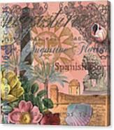 St. Augustine Florida Vintage Collage Canvas Print