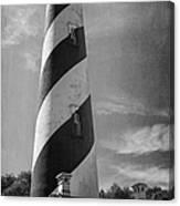 St Augustine Lighthouse Bw Canvas Print