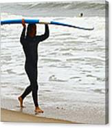 St Augustine Surfer Four Canvas Print