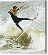 St Augustine Surfer Two Canvas Print