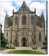 St Barbaras Cathedral Kutna Hora Czech Republic Canvas Print