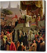 St Bernard Preaching The Second Crusade In Vezelay Canvas Print
