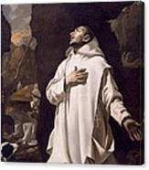 St Bruno Praying In Desert Canvas Print