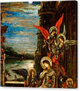 St Cecilia The Angels Announcing Her Coming Martyrdom Canvas Print