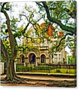 St. Charles Ave. Mansion Paint Canvas Print