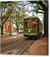 St. Charles Ave. Streetcar In New Orleans Canvas Print