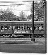 St. Charles Ave. Streetcar Monochrome Canvas Print