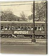 St. Charles Ave. Streetcar Sepia Canvas Print