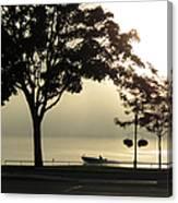 St. Clair Sunrise With Fog Canvas Print
