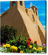 St Francis D'asis Mission Church. Taos New Mexico Canvas Print