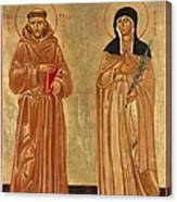 St. Francis Of Assisi And St. Clare Canvas Print