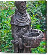 St Francis Of Assisi Garden Statute Canvas Print