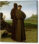 Saint Francis Of Assisi, While Being Carried To His Final Resting Place At Saint-marie-des-anges Canvas Print
