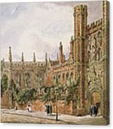 St. Johns College, Cambridge, 1843 Canvas Print