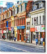Yonge Street In Toronto Canvas Print