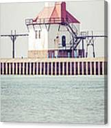 St. Joseph Lighthouse Vertical Panorama Photo Canvas Print