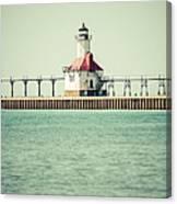 St. Joseph Lighthouse Vintage Picture  Canvas Print