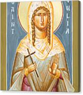 St Julia Of Carthage Canvas Print