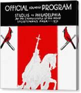 St. Louis Cardinals 1931 World Series Program Canvas Print