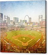 St. Louis Cardinals Busch Stadium Texture 2 Canvas Print