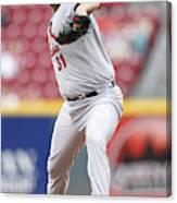 St. Louis Cardinals v Cincinnati Reds Canvas Print