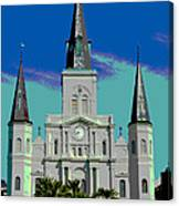 St Louis Cathedral 3 Canvas Print