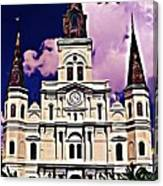 St Louis Cathedral In New Orleans Canvas Print