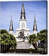 St. Louis Cathedral In New Orleans  Canvas Print