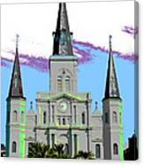 St Louis Cathedral Poster 2 Canvas Print