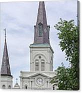 St. Louis Cathedral Through Trees Canvas Print