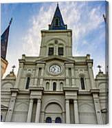 St Louis Cathedral Twilight Canvas Print