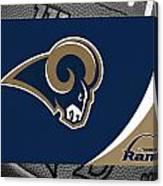 St Louis Rams Canvas Print