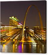 St Louis Skyline With Special Zoom Effect Canvas Print