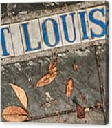 St Louis Street Tiles In New Orleans Canvas Print