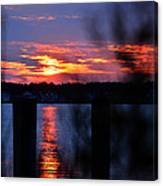St. Marten River Sunset Canvas Print