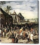 Saint Martin Dividing His Cloak London Canvas Print