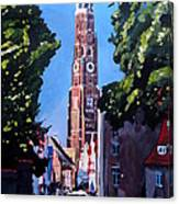 St Martin Old Town Seen From Former Munich Gate Canvas Print