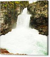 St Mary Falls Glacier National Park Canvas Print